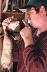 I don't know who this guy is, or what naughty thing the ferret did, but it just seemed fitting.
